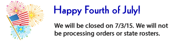 We are closed on July 3rd